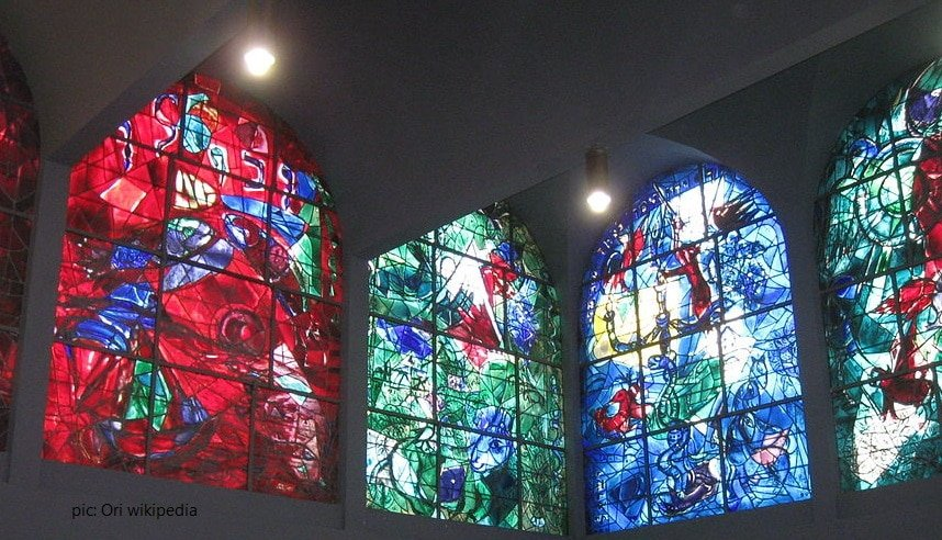 chagall windows at hadassah hospital